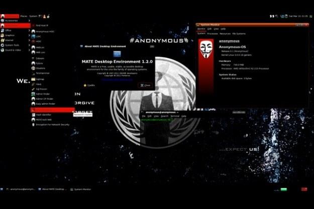Czy tak faktycznie wygląda system operacyjny Anonimowych? /materiały prasowe