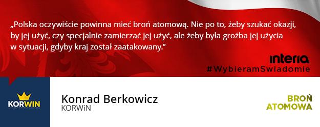 Czy zdaniem pani/pana ugrupowania, Polska powinna posiadać broń atomową? /INTERIA.PL