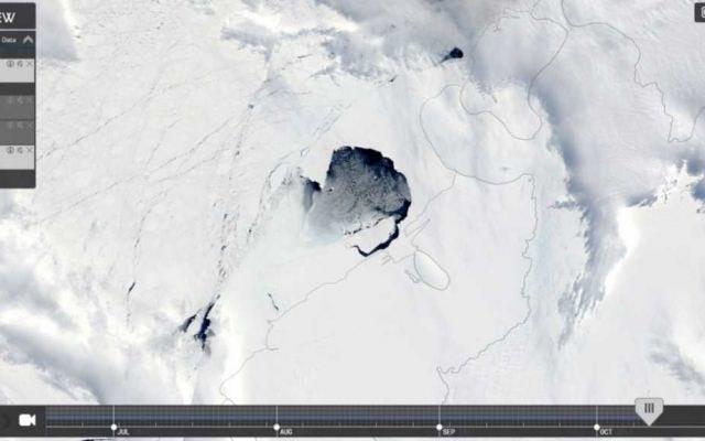 Czym jest dziwny otwór w pokrywie lodowej Antarktydy? /materiały prasowe