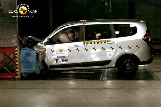 Dacia Lodgy słabo wypadła w testach zderzeniowych /