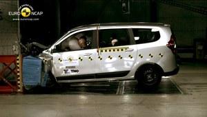 Dacia Lodgy: trzy gwiazdki w Euro NCAP