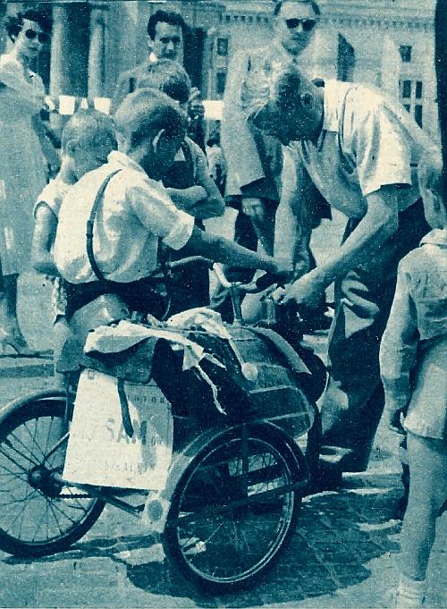 Dafekt... — motocykl dziecięcy wykonany przez Jana Jasińskiego. /Motor
