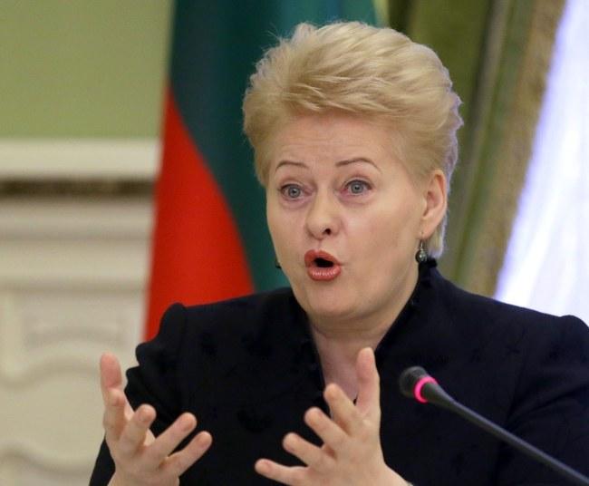 Dalia Grybauskaite /PAP/EPA/TATYANA ZENKOVICH /PAP/EPA