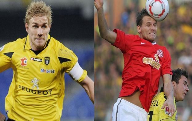 Damien Perquis (z lewej) i Eugen Polanski. Czy zagrają w reprezentacji Polski? /AFP