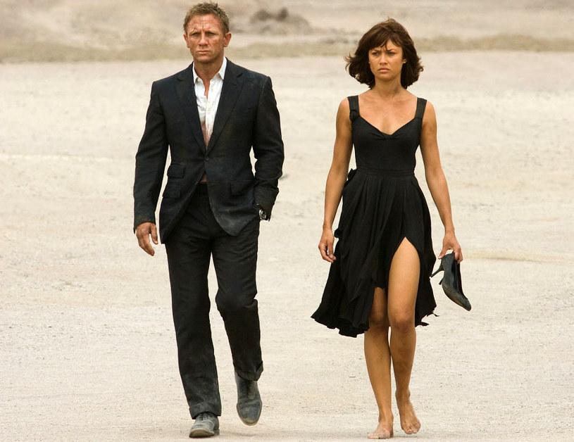 "Daniel Craig i Olga Kurylenko na planie ""Quantum of Solace"" /materiały dystrybutora"