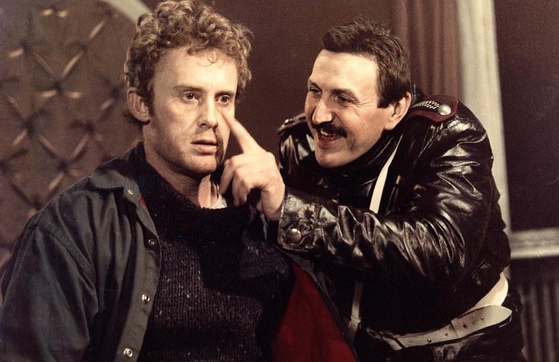 Daniel Olbrychski był rozchwytywanym aktorem. Tu z Krzysztofem Majchrzakiem na planie filmowym /AKPA