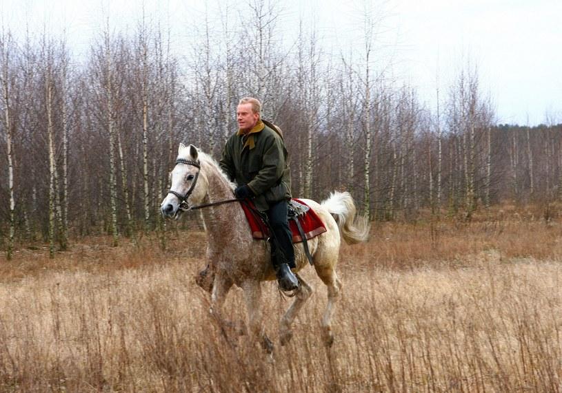 Daniel Olbrychski na koniu, fot. Wojciech Olszanka /East News