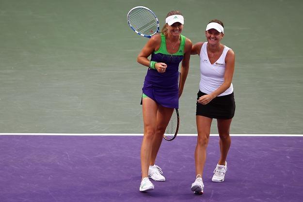 Daniela Hantuchova (z lewej) i Agnieszka Radwańska. /AFP
