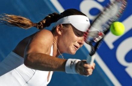 Daniela okazała się za silna dla Agnieszki. /AFP