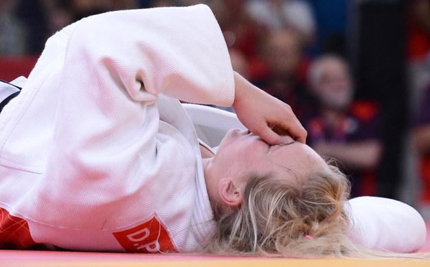 Daria Pogorzelec załamana po porażce. /AFP