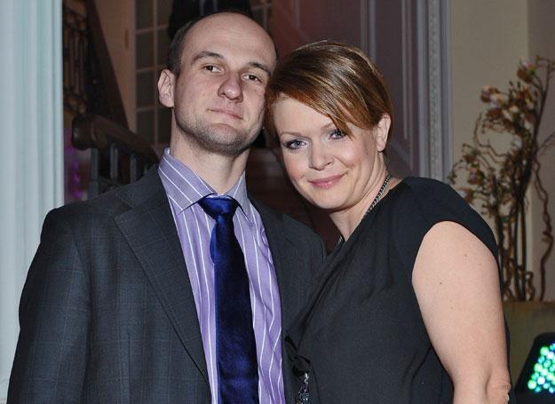 Daria Widawska z mężem fot. Andras Szilagy /MWMedia