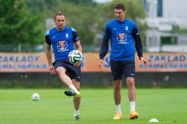 Dariusz Dudka (z lewej) i Marcin Kamiński /Jakub Kaczmarczyk /PAP