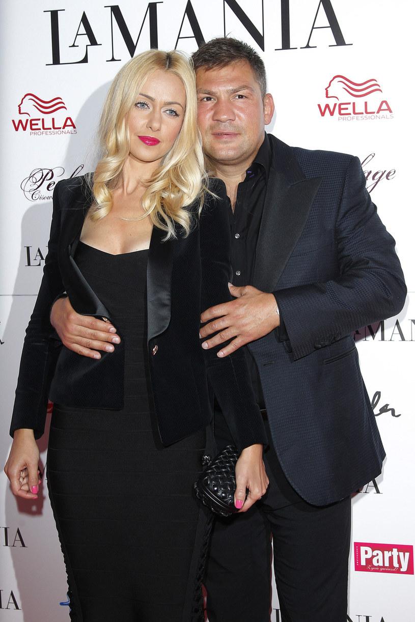 Dariusz Michalczewski z żoną Barbarą /AKPA