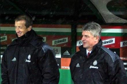 Dariusz Wdowczyk (z prawej) /legia.net