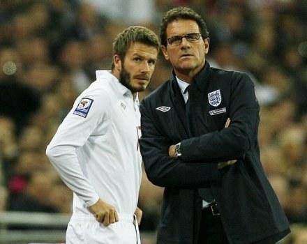 David Beckham i Fabio Capello /AFP