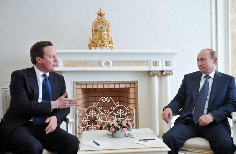 David Cameron i Władimir Putin /AFP