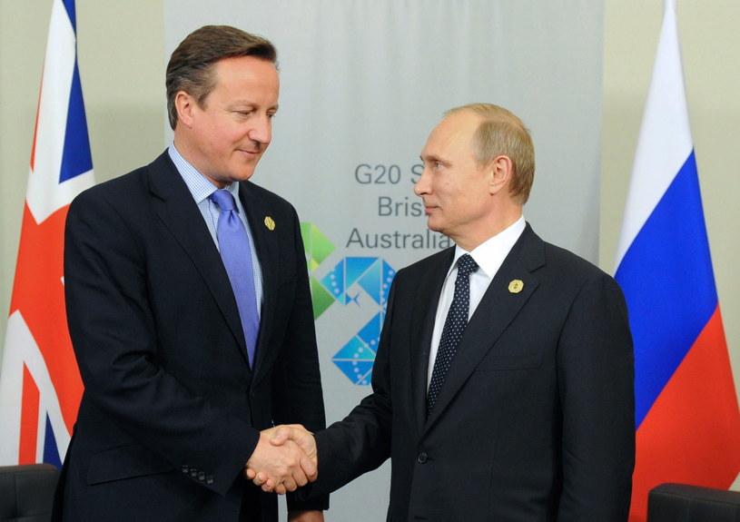 David Cameron i Władimir Putin /PAP/EPA