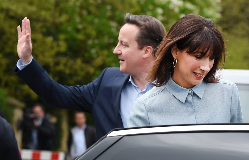 David Cameron z żoną /AFP