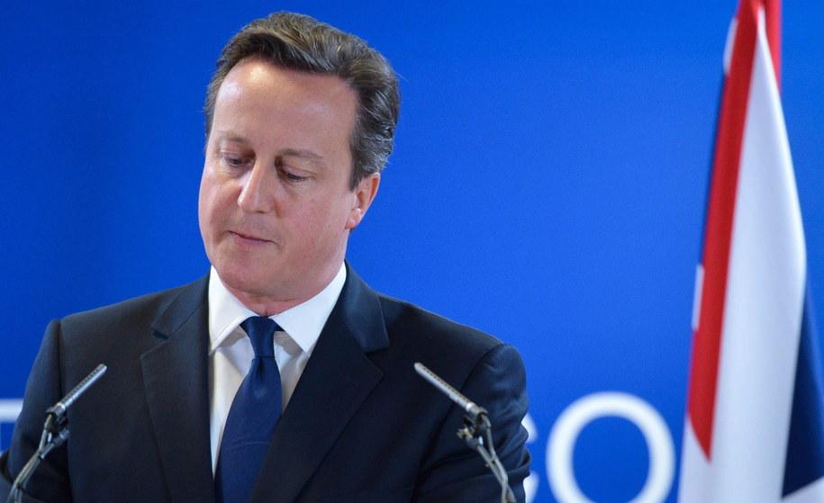 David Cameron /STEPHANIE LECOCQ  /PAP/EPA