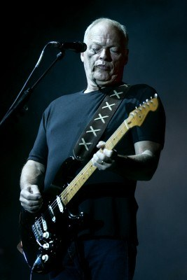 David Gilmour w Stoczni Gdańskiej /AFP