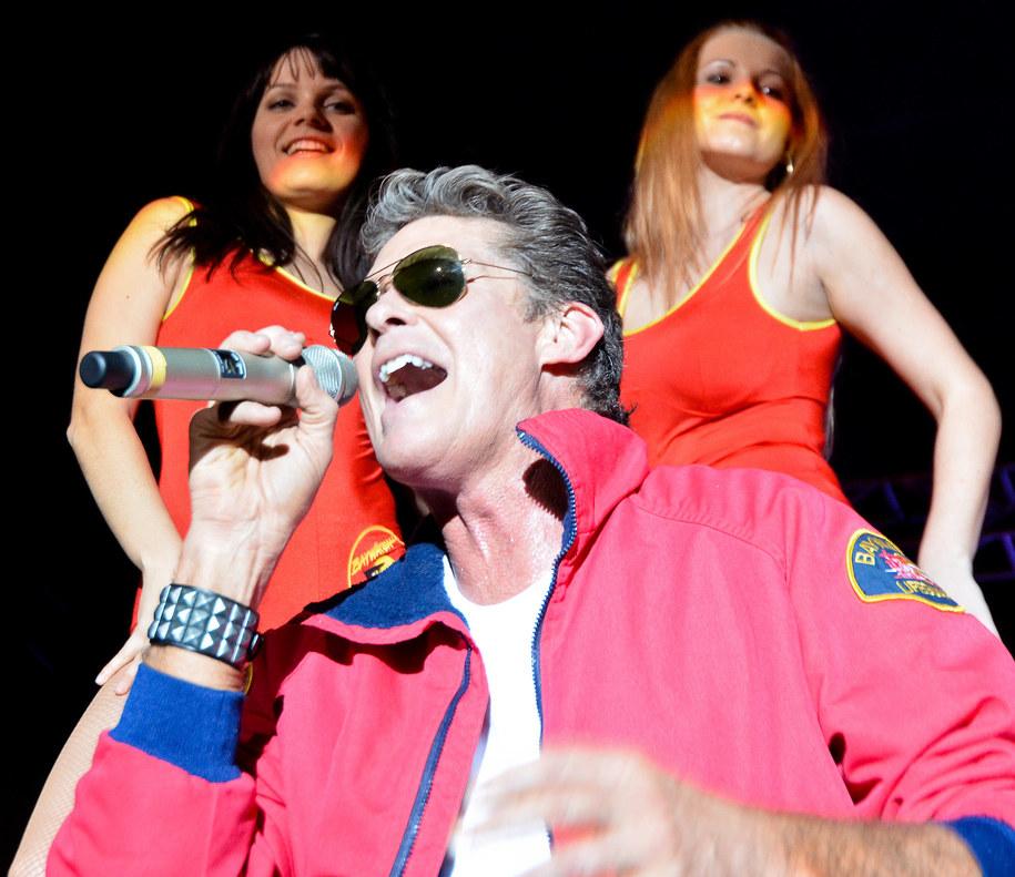 David Hasselhoff podczas koncertu w Wiener Neustadt w Austrii /EXPA/APA /PAP