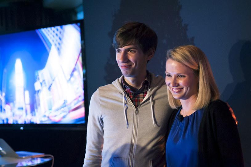 David Karp i Marissa Mayer, dyrektor generalny w Yahoo /The New York Times