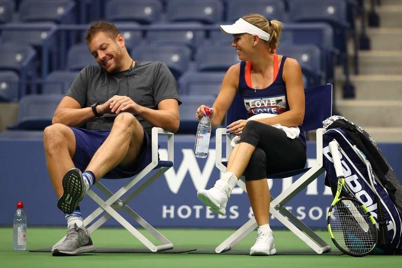 David Lee i Caroline Wozniacki /AFP