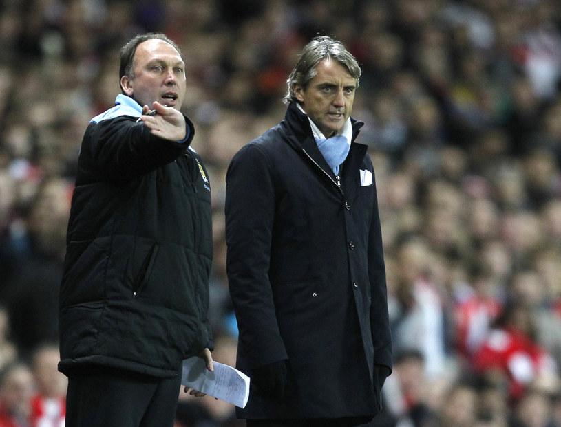 David Platt (z lewej) i Roberto Mancini /AFP