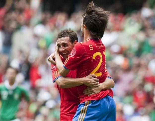 David Silva uratował remis Hiszpanom w meczu z Meksykiem /AFP