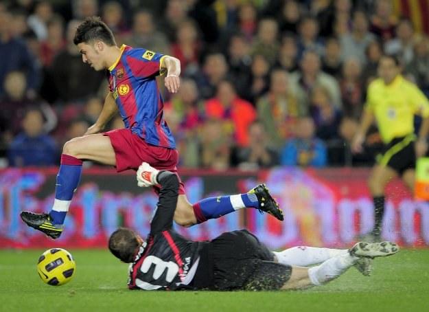 David Villa długo nie mógł się przełamać w meczach ligowych Barcelony /AFP