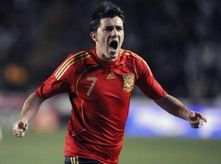 David Villa wygryzł z kadry samego Raula i godnie do zastępuje /AFP