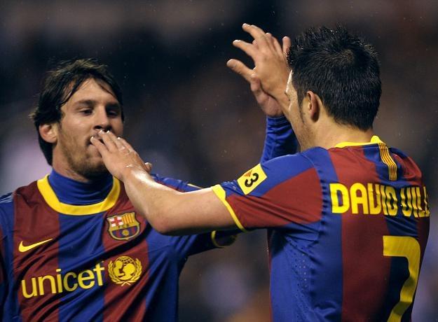David Villa (z prawej) i Lionel Messi - gwiazdy Barcelony /AFP