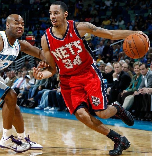 Davin Harris (z prawej) może odjeść New Jersey Nets. /AFP