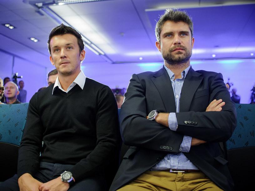 Dawid Celt (z lewej) w towarzystwie Tomasza Wiktorowskiego /Rafał Oleksiewicz /Newspix
