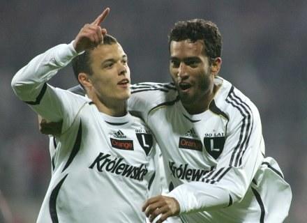 Dawid Janczyk zdobył gola na wagę zwycięstwa Legii w meczu z Odrą Fot. Marek Biczyk /Agencja Przegląd Sportowy