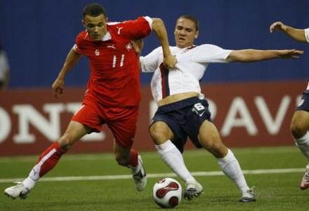 Dawid Janczyk zdobył honorową bramkę dla reprezentacji Polski /AFP