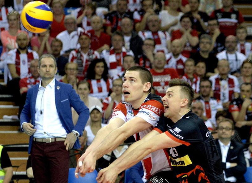 Dawid Konarski (z lewej) i Krzysztof Ignaczak /Darek Delmanowicz /PAP