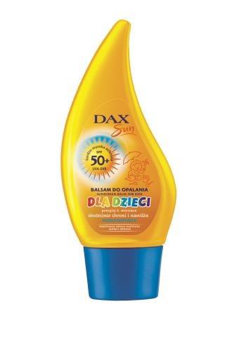 Dax Sun  Balsam do opalania  dla dzieci SPF 50+, zapewnia ochronę przed słońcem maluchom o jasnej karnacji, ok.  33 zł/150 ml. /Mat. Prasowe