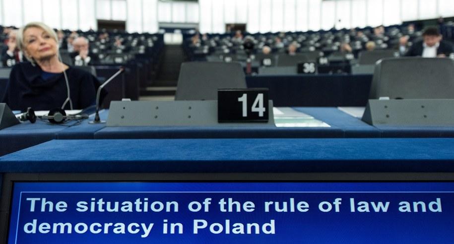 Debata ws. Polski w PE /Patrick Seeger  /PAP/EPA