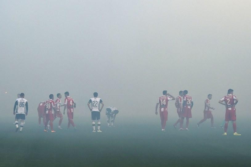 Debry Belgradu pomiędzy Partizanem a Crveną Zvezdą /AFP