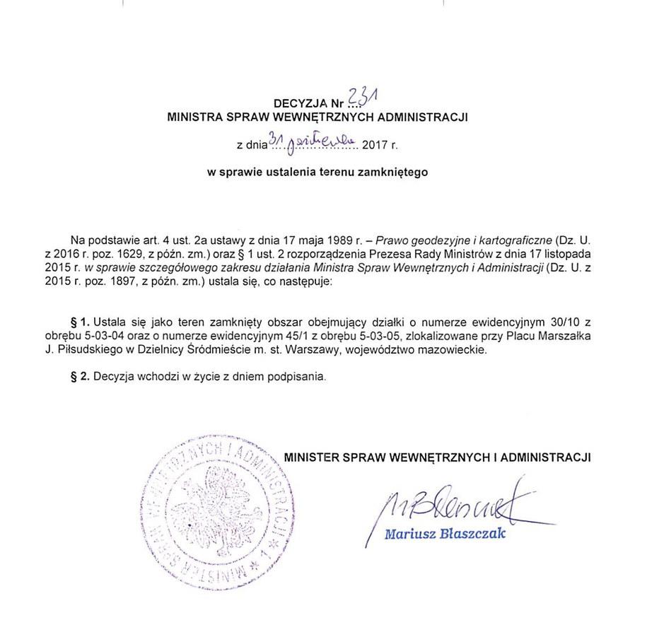 Decyzja ministra spraw wewnętrznych i administracji /RMF FM