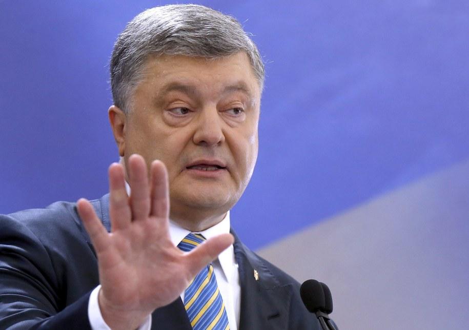 Dekret ws. sankcji podpisał prezydent Ukrainy Petro Poroszenko /TATYANA ZENKOVICH  /PAP/EPA