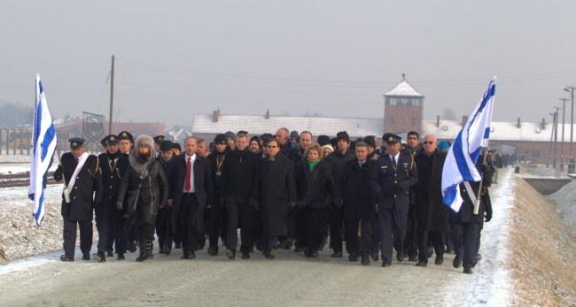 Delegacja Knesetu w Auschwitz /Andrzej Grygiel /PAP