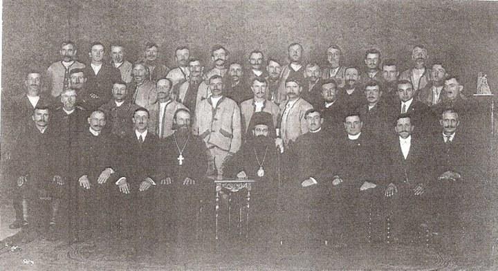 Delegacja Łemków na spotkaniu z prawosławnymi hierarchami w 1921 roku /archiwum S. Zagórskiego /INTERIA.PL