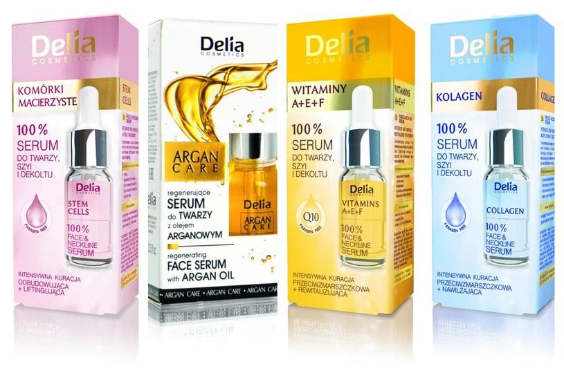 Delia Cosmetics, linia serum do twarzy, szyi i dekoltu /Styl.pl/materiały prasowe