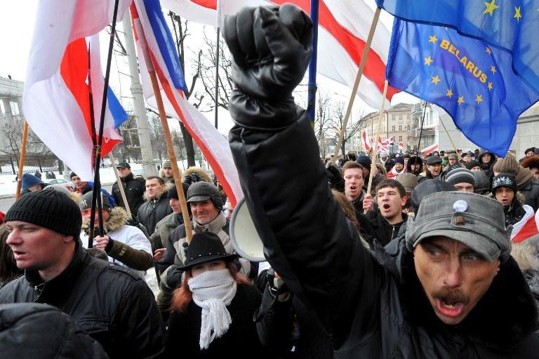 Demonstracja opozycji na Białorusi /AFP