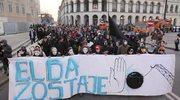 Demonstracja przeciwko likwidacji squatu Elba