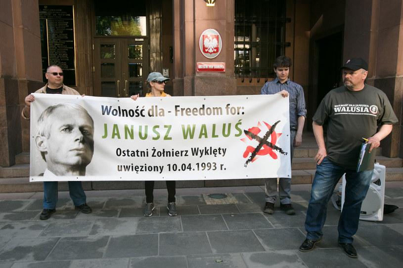 Demonstracja w obronie Janusza Walusia, czerwiec 2017 r. /Jacek Lagowski / Forum /Agencja FORUM