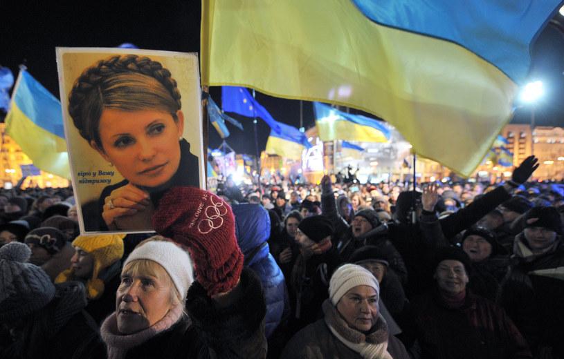 Demonstrujący Ukraińcy /AFP