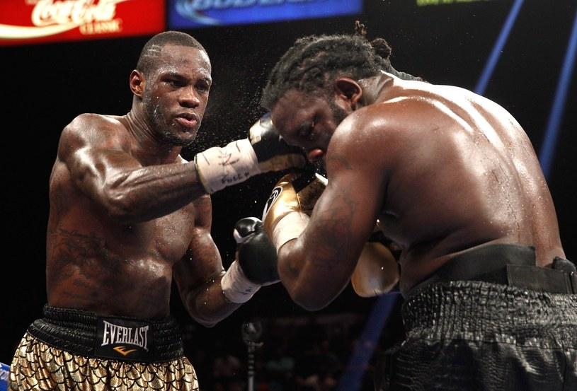 Deontay Wilder (z lewej) już raz pokonał Bermane'a Stiverne'a /AFP
